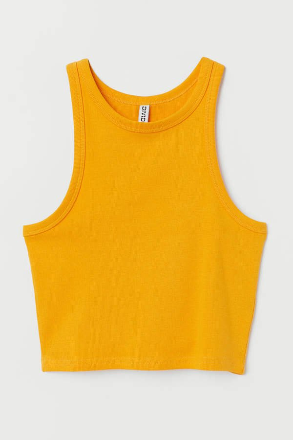 Ribbed Tank Top - Orange