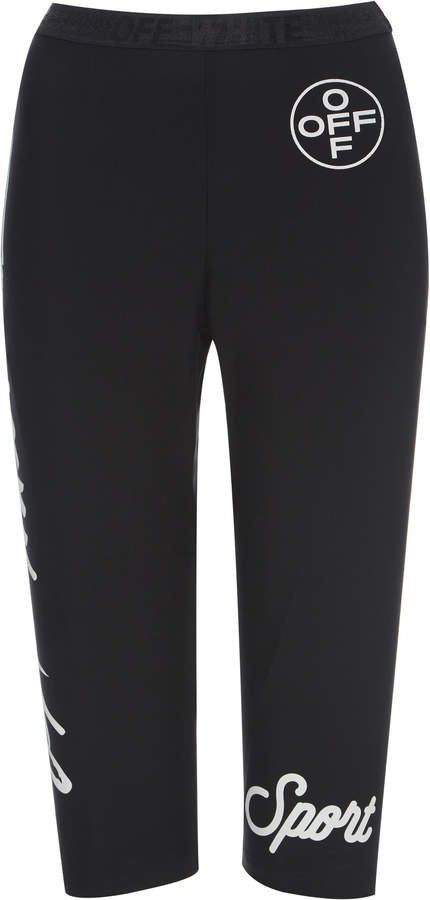 Printed Stretch Biker Shorts