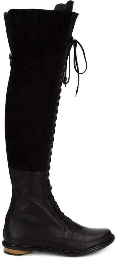 Valas thigh high lace-up boots