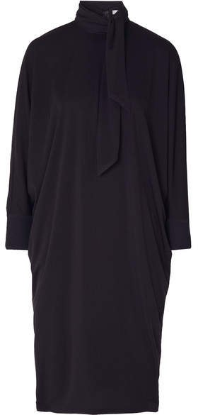 Crepe Midi Dress - Navy
