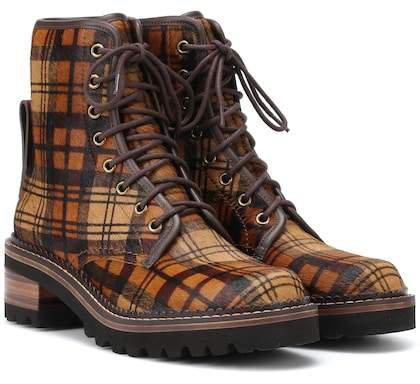 Liegi calf hair ankle boots