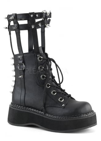 Demonia Emily 357 Gothic Harness Boot | Attitude Clothing