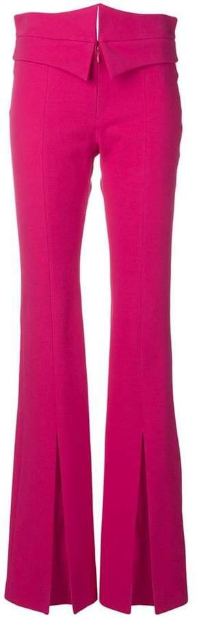 flared high-rise trousers