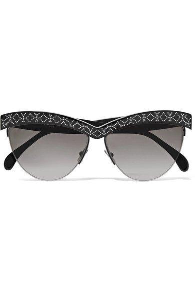 Alaïa | D-Frame studded acetate sunglasses | NET-A-PORTER.COM