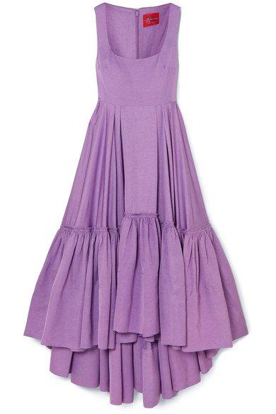 Solace London | Haye tiered woven midi dress | NET-A-PORTER.COM