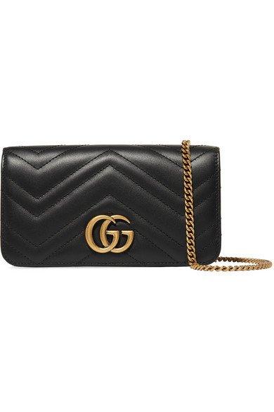 Gucci   GG Marmont mini Schultertasche aus gestepptem Leder   NET-A-PORTER.COM