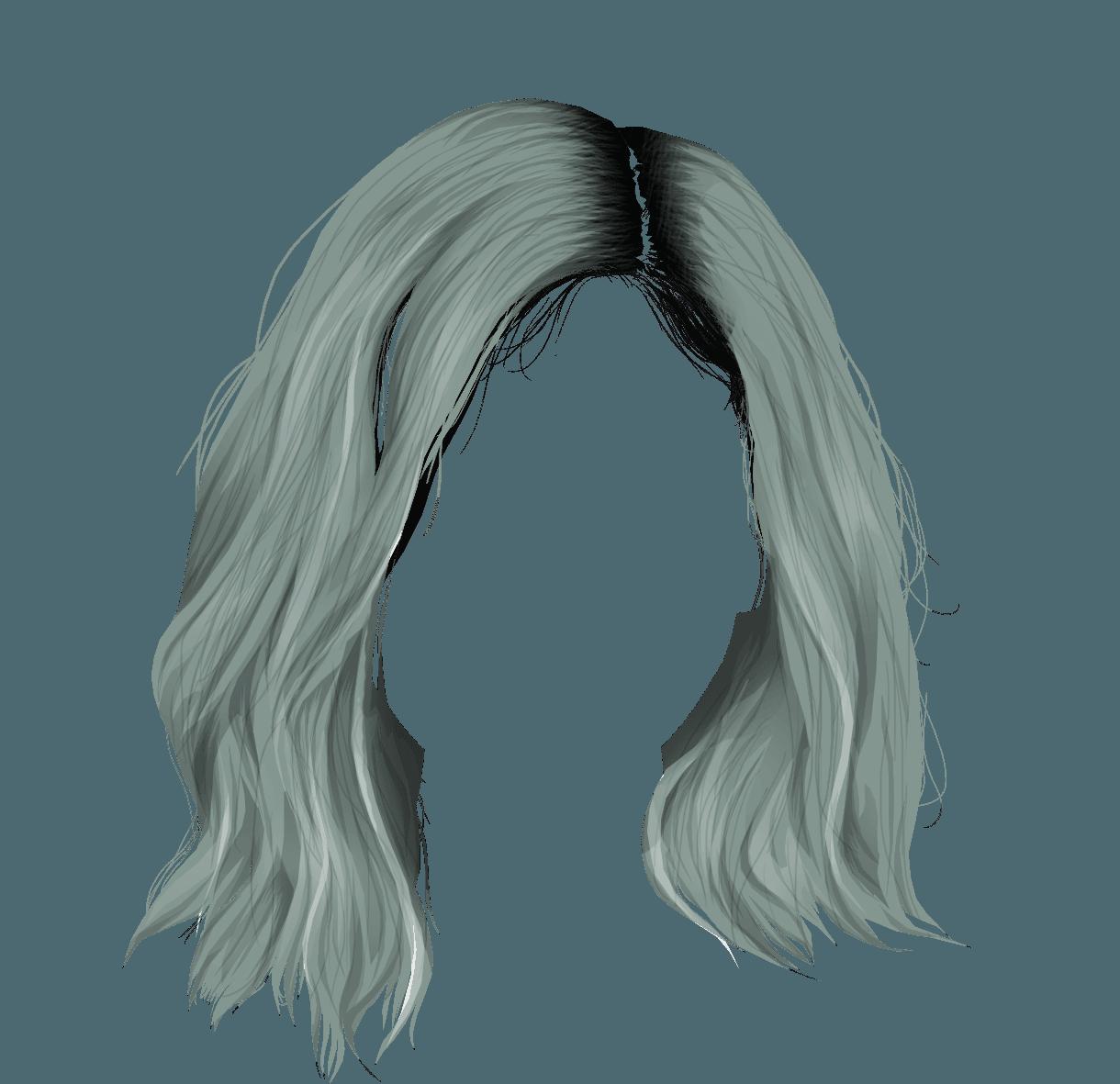 png aesthetic blue hair