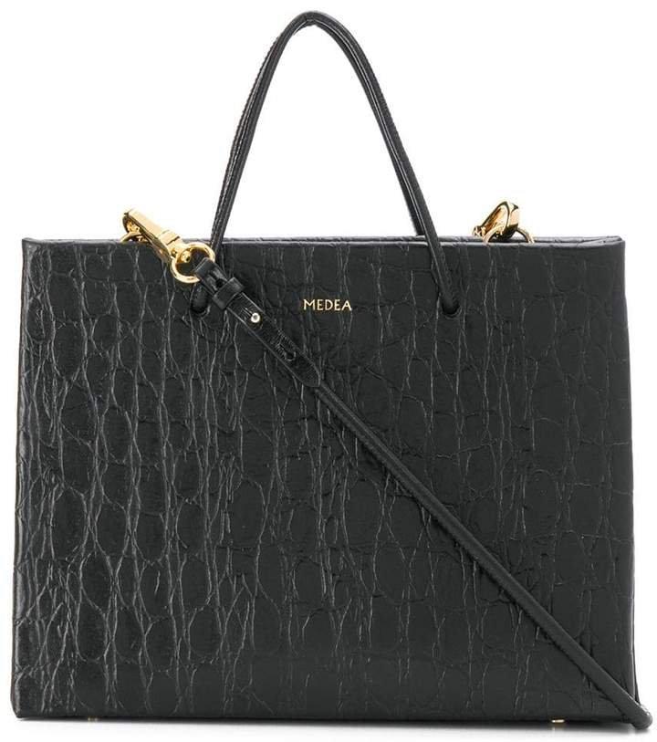 Medea croc-effect shopping bag tote