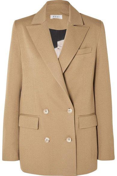 OCHI | Oversized double-breasted Tencel-blend blazer | NET-A-PORTER.COM