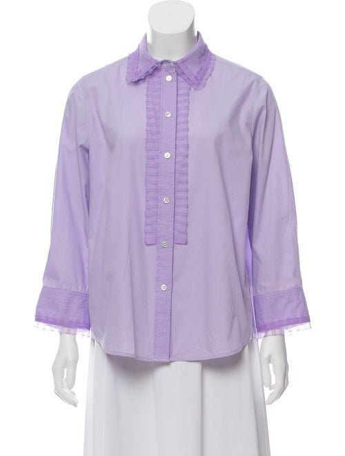 Marc Jacobs Long Sleeve Button-Up Top - Clothing - MAR59195 | The RealReal