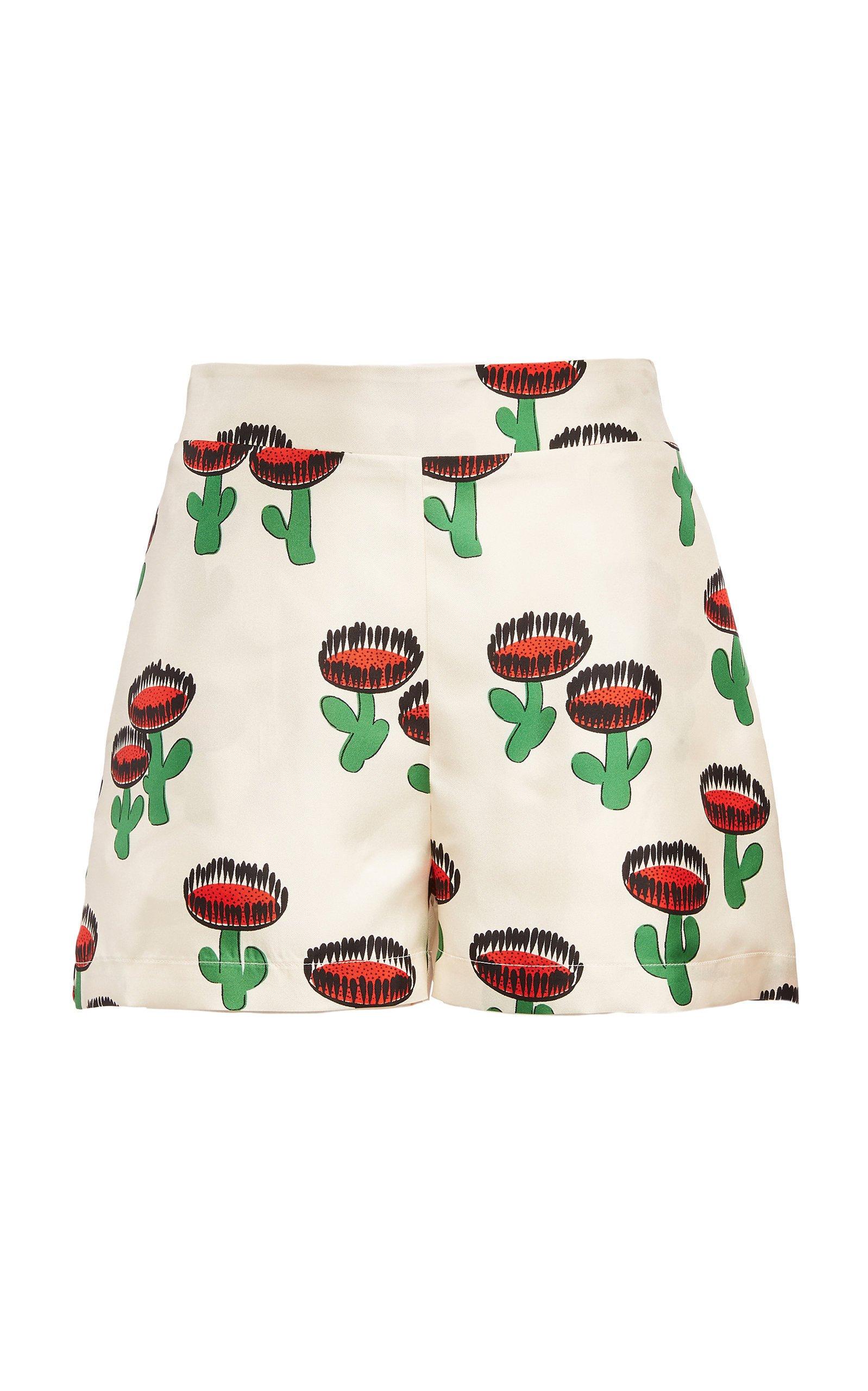 La DoubleJ Boxer Printed Silk Shorts Size: M