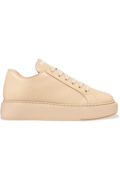 Prada | Leather sneakers | NET-A-PORTER.COM
