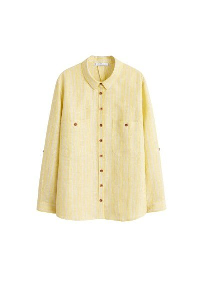 Violeta BY MANGO Button linen shirt