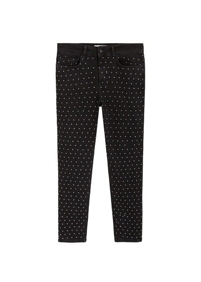 Violeta BY MANGO Appliqués super slim jeans