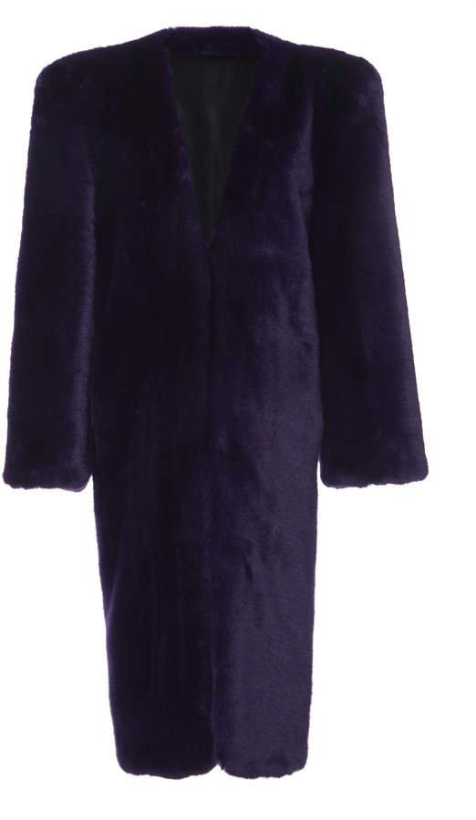 Blue Fur Smoking Jacket