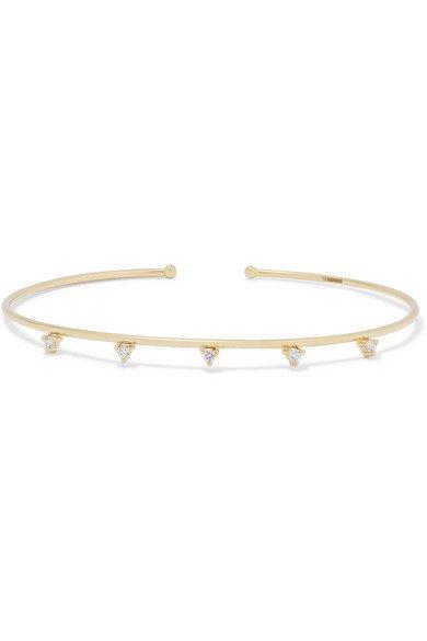 Mizuki | 14-karat gold diamond cuff | NET-A-PORTER.COM