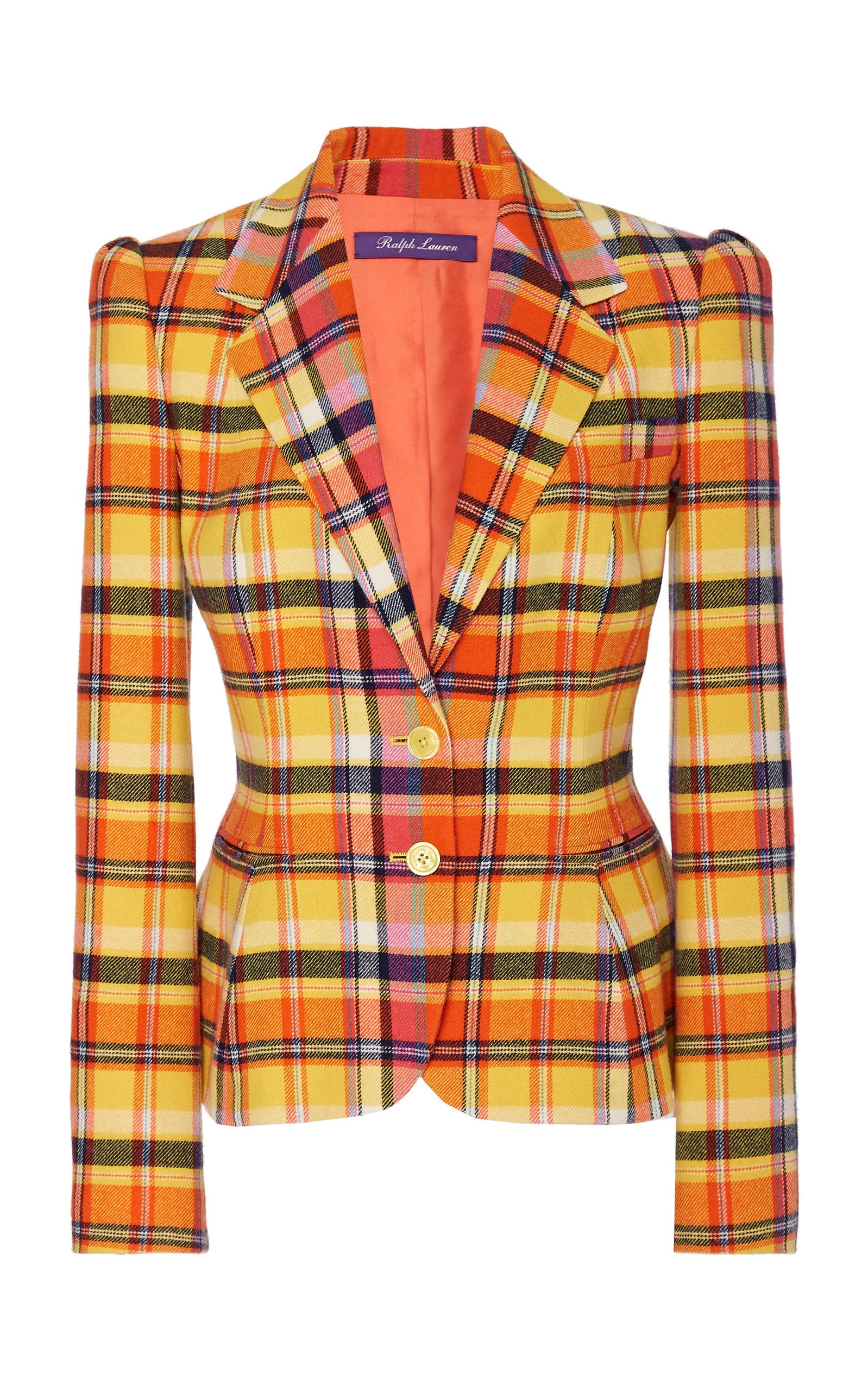 Ralph Lauren Eloise Plaid Wool-Blend Jacket
