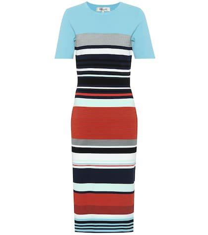 Striped knit dress
