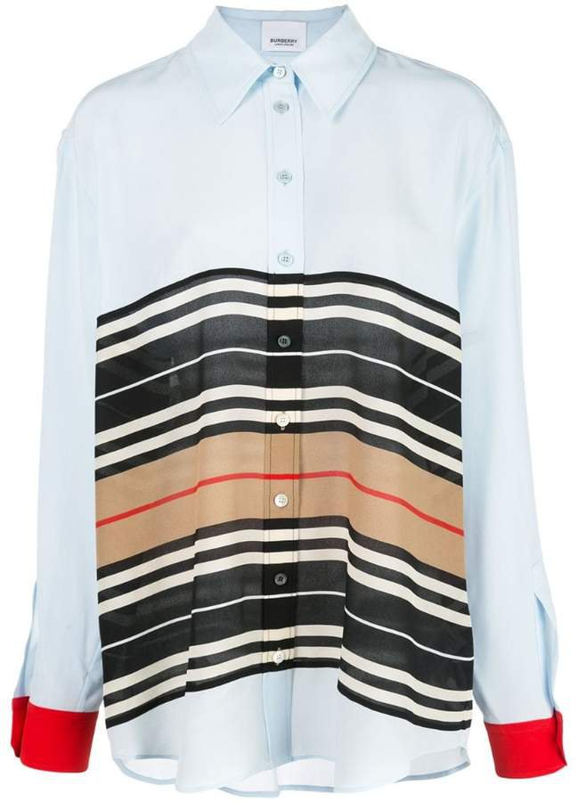 Icon Stripe oversized shirt