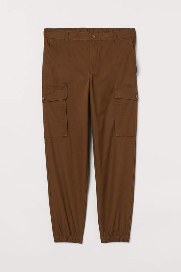 Cotton Cargo Pants - Brown