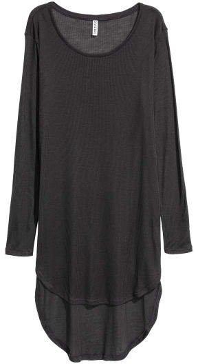 Long Jersey Top - Black