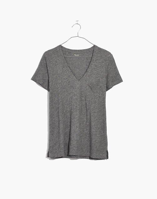 Women's Whisper Cotton V-Neck Pocket Tee | Madewell