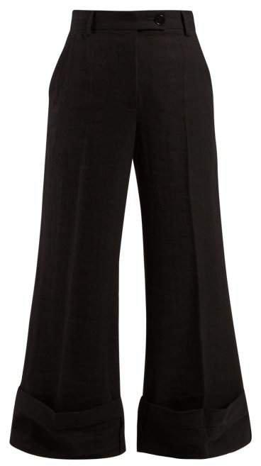 Sailor Crepe Trousers - Womens - Black