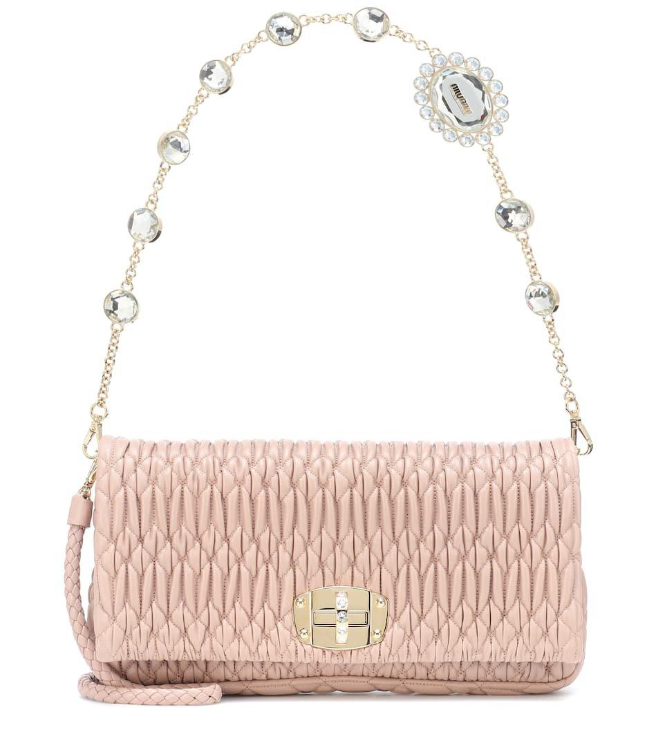 Matelassé Leather Shoulder Bag | Miu Miu - Mytheresa