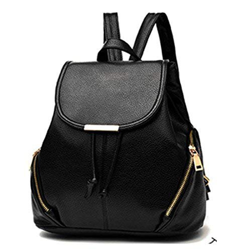 Alice Leather Backpacks /School Bags For Girls/Women - Black: Amazon.in: Bags, Wallets & Luggage