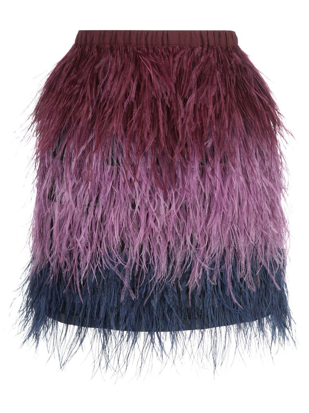 Cynthia Rowley Ostrich Feather Mini Skirt | Farfetch.com
