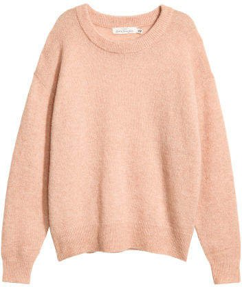 Fine-knit Wool-blend Sweater - Pink