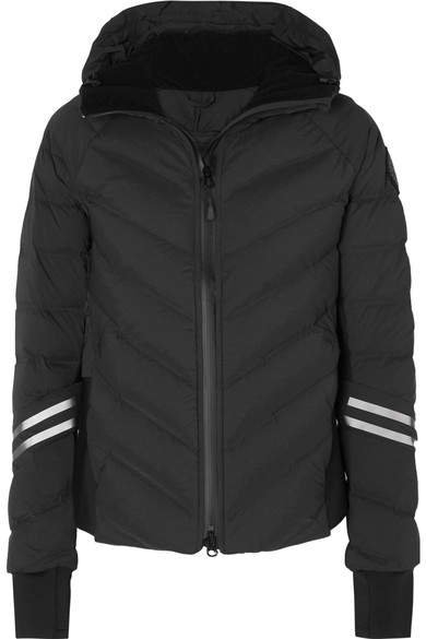 Hybridge Hooded Quilted Shell Down Jacket - Black