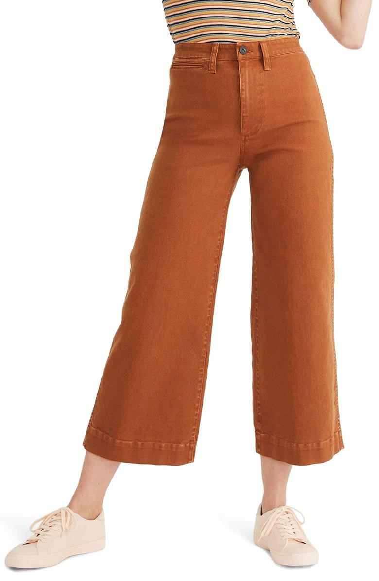 Madewell Emmett Crop Wide Leg Pants | Nordstrom
