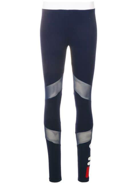 Fila Sheer Panelled Leggings - Farfetch