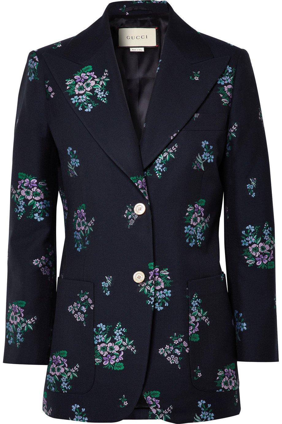 Gucci | Cotton and wool-blend jacquard blazer | NET-A-PORTER.COM