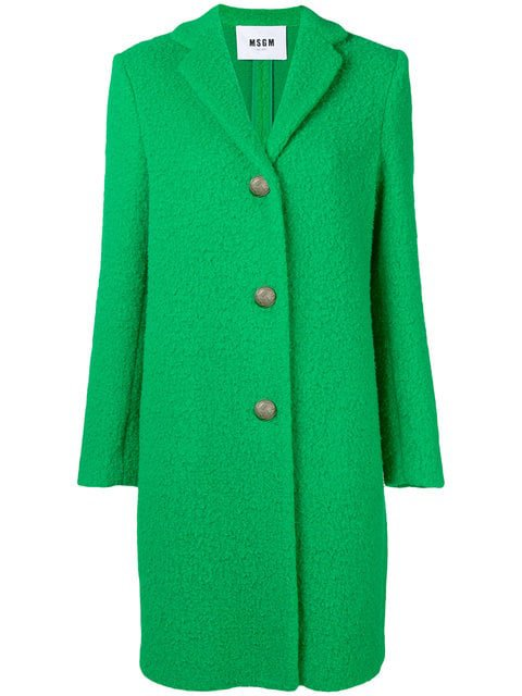 MSGM Buttoned Coat - Farfetch