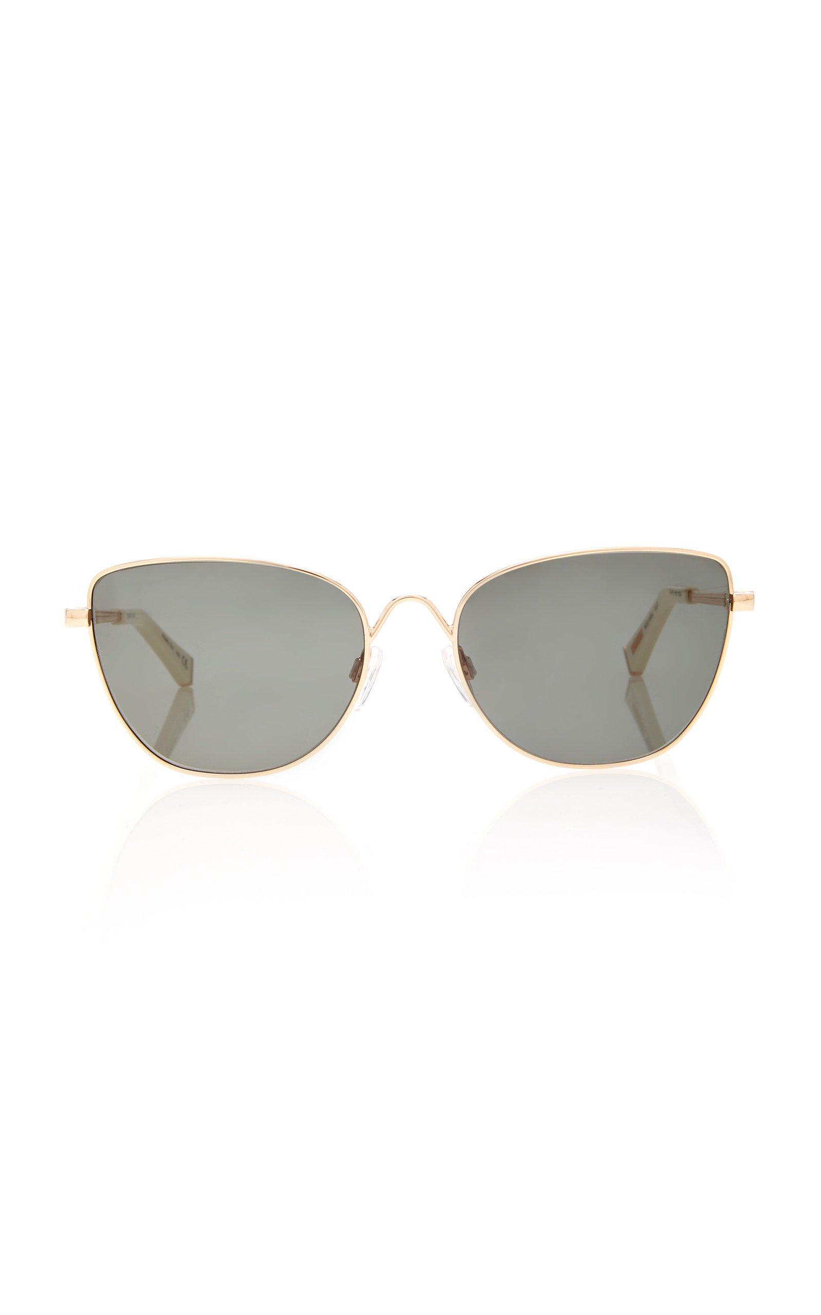 Kate Young Kaela Cat-Eye Metal Sunglasses