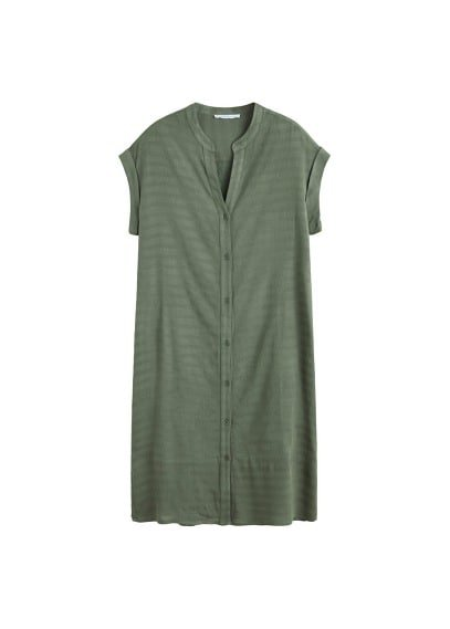 Violeta BY MANGO Buttoned textured dress