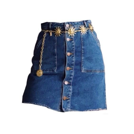 blue denim skirt png