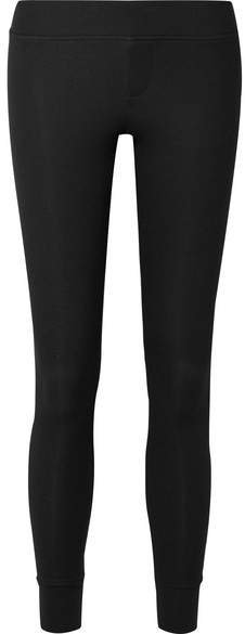 Ribbed Stretch-micro Modal Leggings - Black