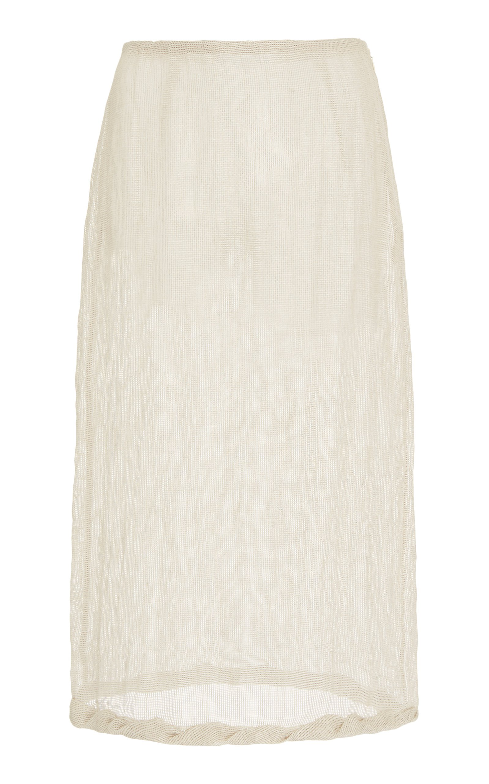 Rejina Pyo Dani Linen Voile Pencil Skirt Size: 14