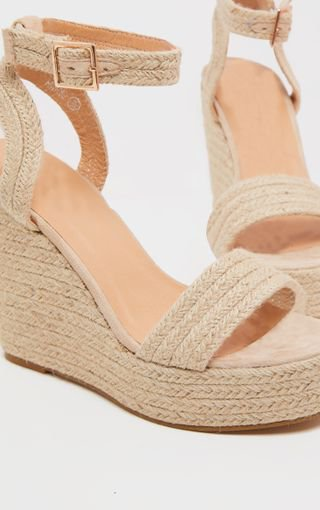 Natural Espadrille Wedge Sandal   Shoes   PrettyLittleThing