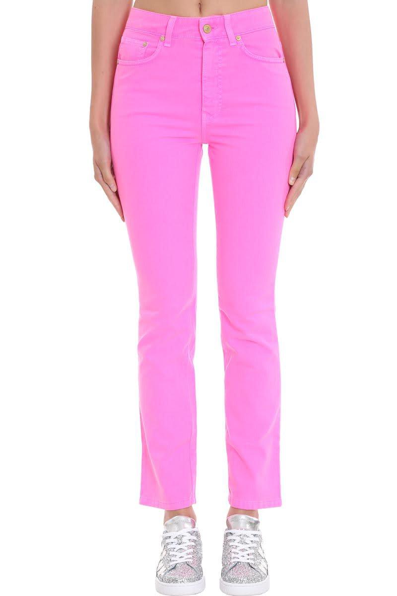 Chiara Ferragni Jeans In Rose-pink Denim