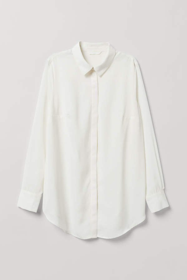 MAMA Long-sleeved Blouse - White