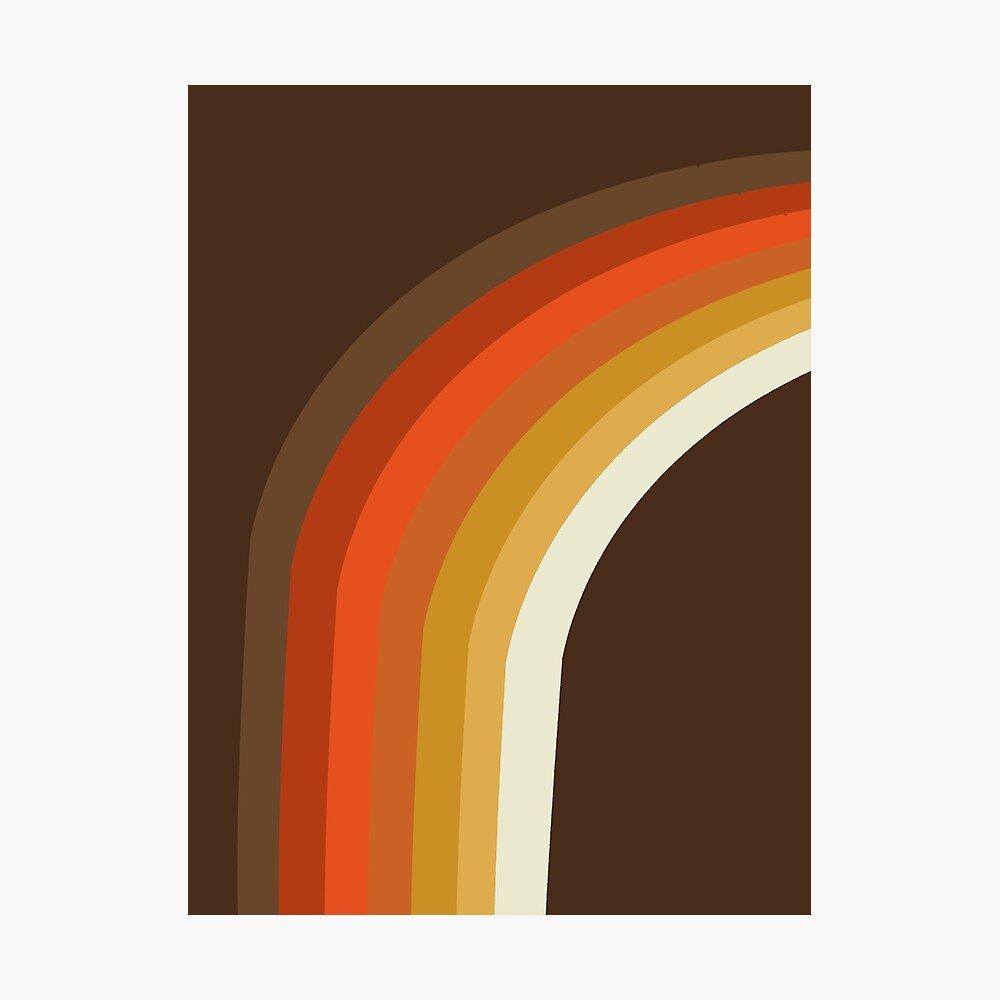 """Rad - 70s style throwback rainbow art 1970s minimalist art "" Photographic Print by 78designs | Redbubble"