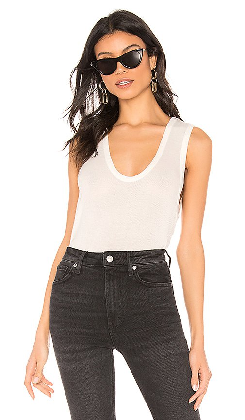 Free People Take The Plunge Tank in White   REVOLVE