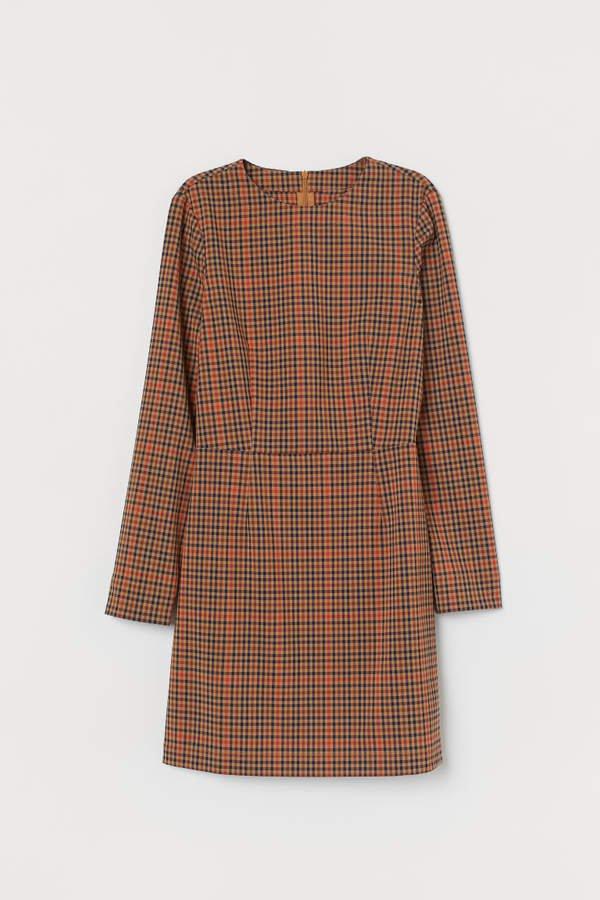 Long-sleeved Dress - Beige