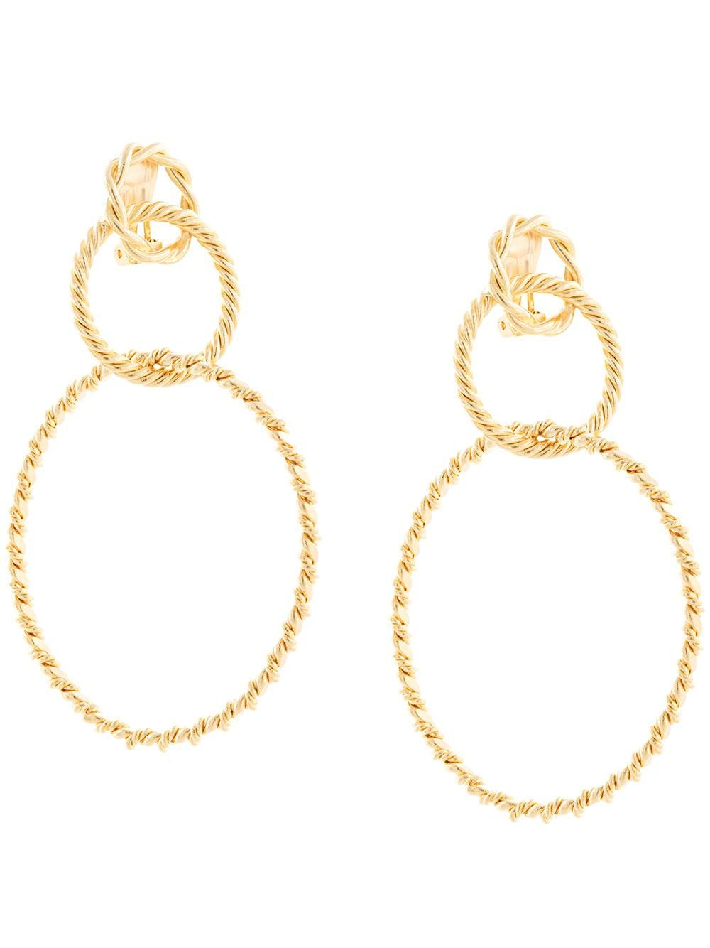 Gold Racil Sienna Hoop Earrings | Farfetch.com
