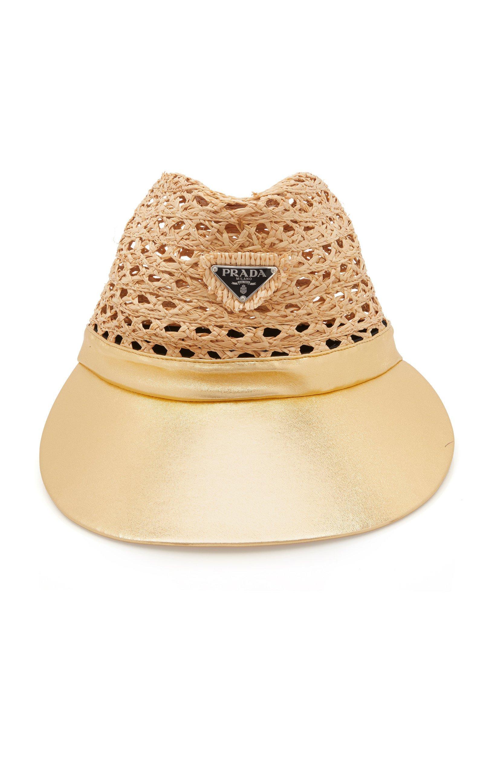 Prada Triangolo Raffia Hat Size: XS