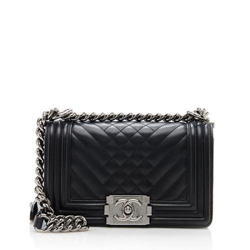 Chanel Chevron Quilted Small Boy Bag